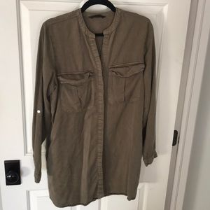 Knot Sisters army green cargo dress